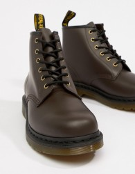 Dr Martens 101 6-eye boots in chocolate - Brown