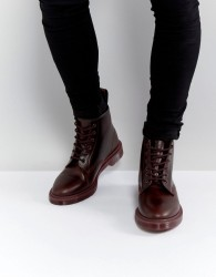 Dr Martens 101 BR 6 Eye Colour Block Boots - Red