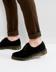 Dr Martens 1461 3 Eye Suede Shoes - Black