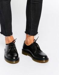 Dr Martens 1461 Classic Black Flat Shoes - Black
