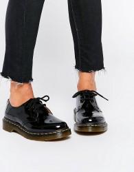 Dr Martens 1461 Classic Black Patent Flat Shoes - Black