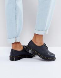 Dr Martens 1461 Premium Leather Lace Up Flat Shoes - Black