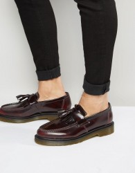 Dr Martens Adrian Tassel Loafers In Burgundy - Red