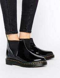 Dr Martens Bianca Black Patent Chelsea Boots - Black