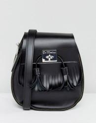 Dr Martens Black Tassel Saddle Bag - Black