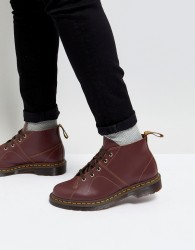 Dr Martens Church Monkey Lace Up Boots In Oxblood - Red