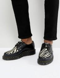 Dr Martens Core Fusion Zebra Creepers In Black - Black