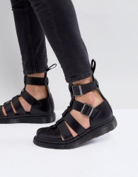 Dr Martens Geraldo Ankle Strap Sandals In Black - Black