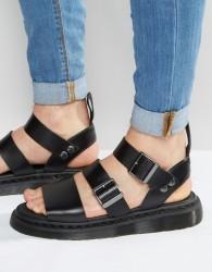 Dr Martens Gryphon Strap Sandals In Black - Black