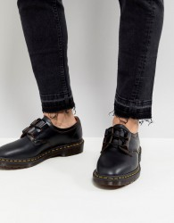Dr Martens Henton Ghillie Shoes In Black Smooth - Black