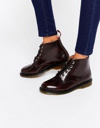 Dr Martens Kensington Emmeline 5-Eye Cherry Boots - Red