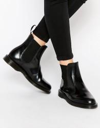 Dr Martens Kensington Flora Black Chelsea Boots - Black