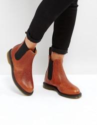 Dr Martens Kensington Flora Chestnut Chelsea Boots - Tan