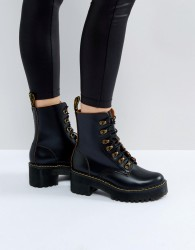 Dr Martens Leona Hiker Chunky Lace Up Ankle Boots - Black