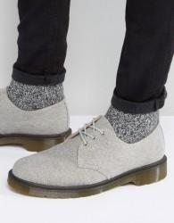 Dr Martens Lester 3 Eye Washed Canvas Shoes - Grey