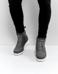 Dr Martens Lite Rigal Knit 8 Eye Boots - Grey