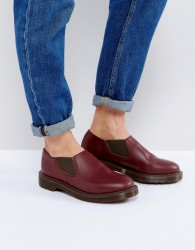 Dr Martens Louis Leather Flat Shoe - Red
