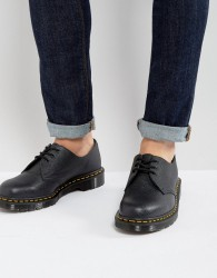 Dr Martens Made In England 1461 Pebble Shoes - Black