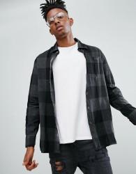 Dr Martens Overdyed Gingham Shirt - Black
