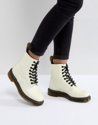 Dr Martens Pascal Boot in White Glitter - White