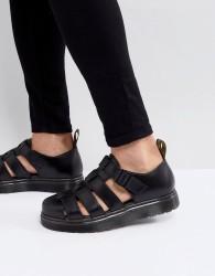 Dr Martens Vibal Closed Sandals In Black - Black