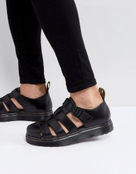 Dr Martens Vibal Closed Sandals In Black - Black