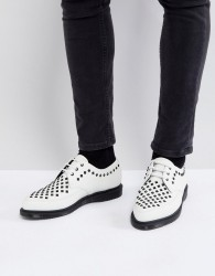 Dr Martens Willis studded creepers in white - White