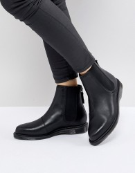 Dr Martens Zillow Refine Chelsea Boot in Black Leather - Black