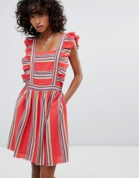 d.RA Malibu Ruffle Front Dress - Red