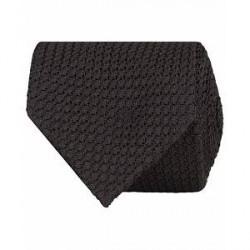 Drake's Grenadine Silk 8 cm Tie Black
