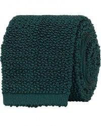 Drake's Knitted Silk 6.5 cm Tie Green men One size Grøn