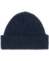 Drake's Merino Wool Donegal Hat Navy men One size Blå
