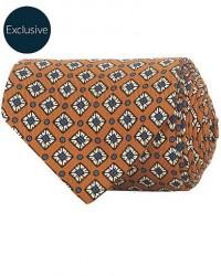 Drake's MTO Silk 8 cm Tie Rust men One size Orange
