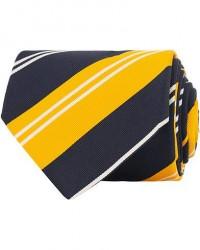 Drake's Navy Tip Reppe Silk/Cotton 8 cm Tie Navy men One size Gul,Blå