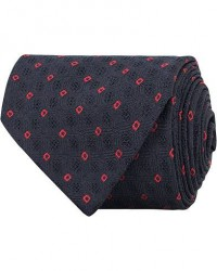 Drake's Navy Tip Silk 8 cm Tie Navy men One size Blå