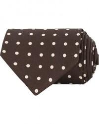 Drake's Self Tip Silk Shantung 8 cm Tie Brown men One size Brun