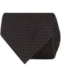 Drake's Silk Grenadine Handrolled 8 cm Tie Black men One size Sort