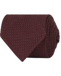 Drake's Silk Grenadine Handrolled 8 cm Tie Wine Red men One size Rød