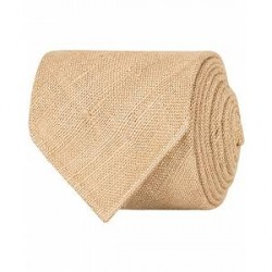 Drake's Tussah Silk Handrolled 8 cm Tie Beige