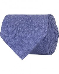 Drake's Tussah Silk Handrolled 8 cm Tie Blue men One size Blå