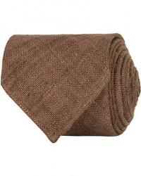Drake's Tussah Silk Handrolled 8 cm Tie Brown men One size Brun