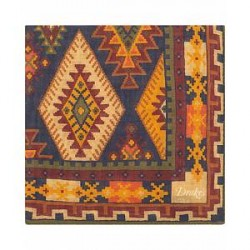 Drake's Wool/Silk Geometric Pocket Square Multi