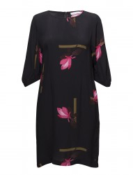 Dress W. Mokuren Print