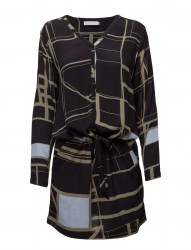 Dress W. Square Print