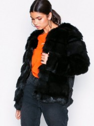 Dry Lake Cozy Bubble Mid Jacket Faux Fur Black