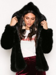 Dry Lake Cozy Hoodie Jacket Faux Fur Black