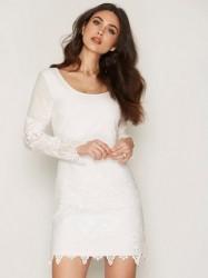 Dry Lake Day Dreaming Sleeve Dress Kropsnære kjoler White