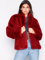 Dry Lake Smoothie jacket Faux Fur Burgundy