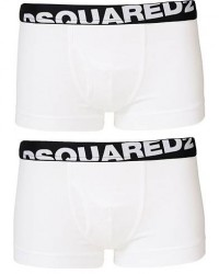 Dsquared2 2-Pack Cotton Stretch Trunk White men S Hvid