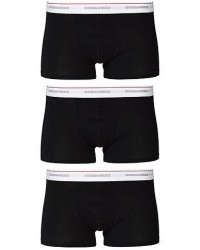 Dsquared2 3-Pack Cotton Stretch Trunk Black men S Sort